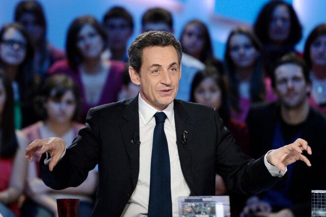 Nicolas Sarkozy, sur le plateau du Grand Journal