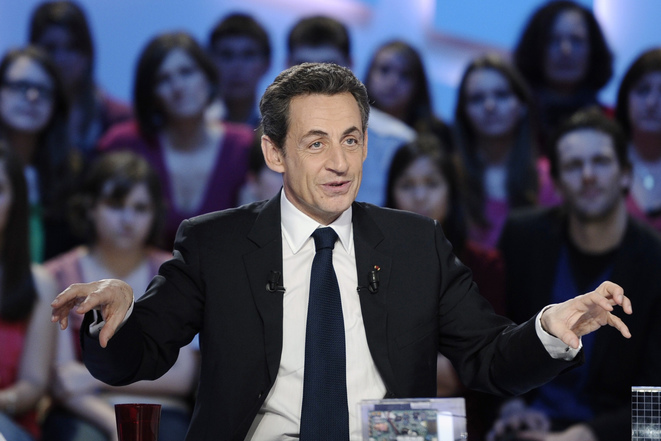 Nicolas Sarkozy, sur le plateau du Grand Journal © Reuters