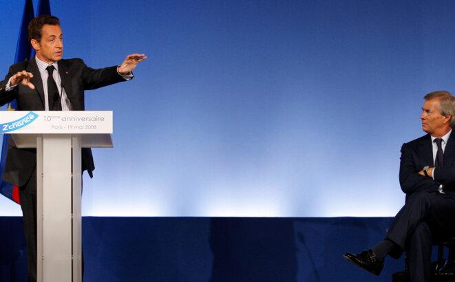 Nicolas Sarkozy et Vincent Bolloré © (Reuters)
