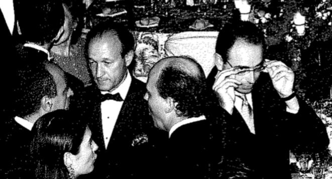 Takieddine (à gauche), Gaubert (au centre) et Copé (à droite)