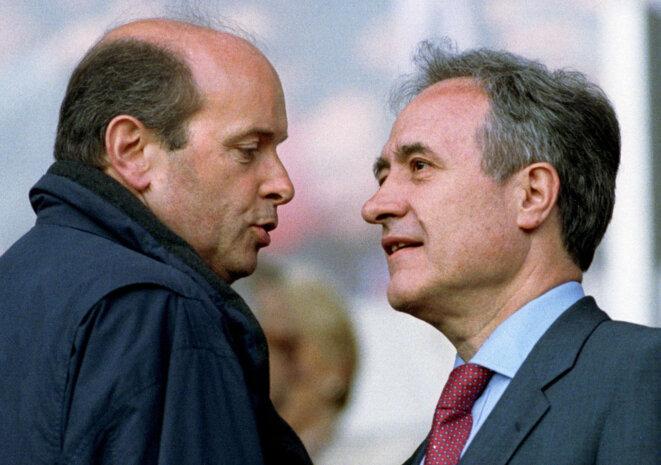Jacques Toubon avec Jean Tiberi, en 1997.
