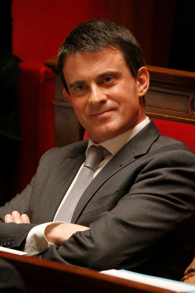 Manuel Valls, à l'Assemblée nationale. © Reuters