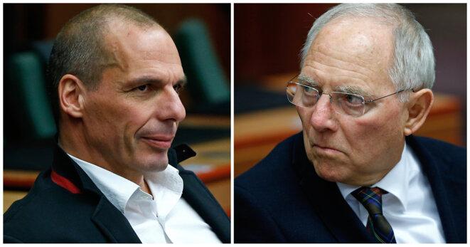 Les ministres des finances grec et allemand.