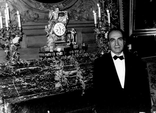 Ziad Takieddine, chez lui à Paris en 2002.