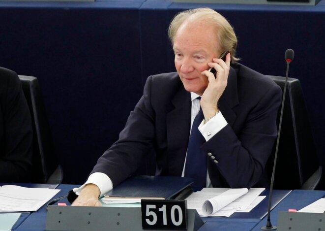 Brice Hortefeux, au Parlement européen. © Reuters