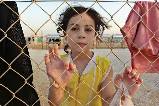 Dans le camp de réfugiés syriens, à Zaatari en Jordanie, le 31 juillet 2012 © Reuters