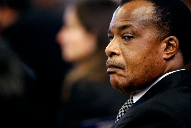 Denis Sassou Nguesso en 2009.  © Reuters