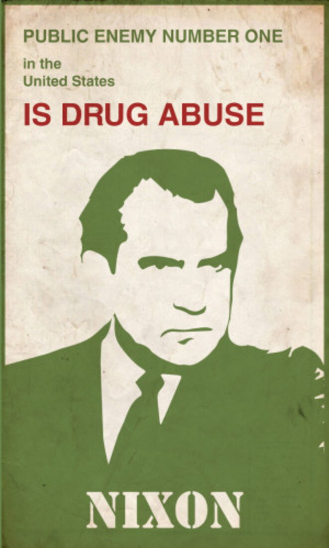 Nixon déclare la guerre aux drogues.