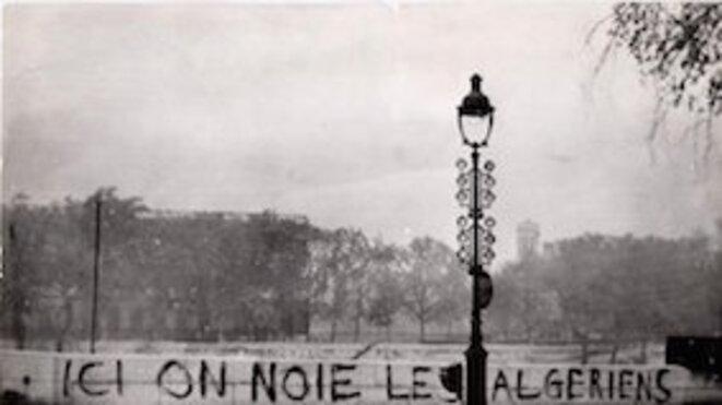 Photo extraite du film « Ici on noie les Algériens », un film documentaire français réalisé par Yasmina Adi, sorti en 2011.