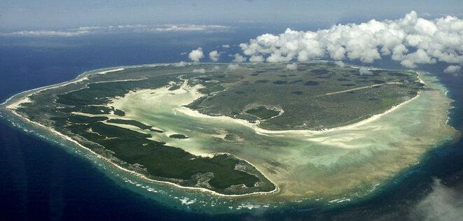 Vue aérienne de l'ile d'Europa, dans le canal du Mozambique © Wikimedia Commons