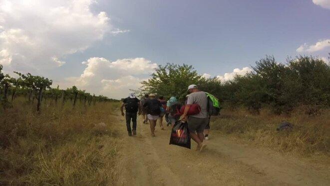 La marche vers la première gare Macédonienne