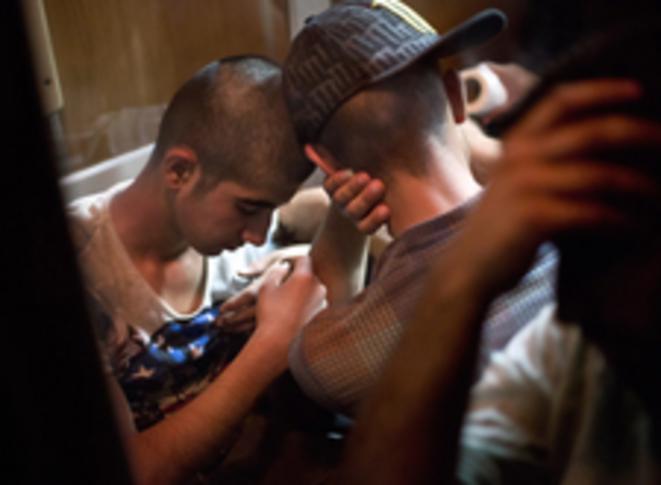Dans le train en Macédoine © Valerio Muscella
