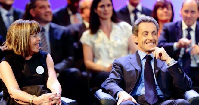 Nicolas Sarkozy en vedette au meeting électoral de Joëlle-Ceccaldi Raynaud, le 10 juin 2015 © © Unionpourputeaux.fr