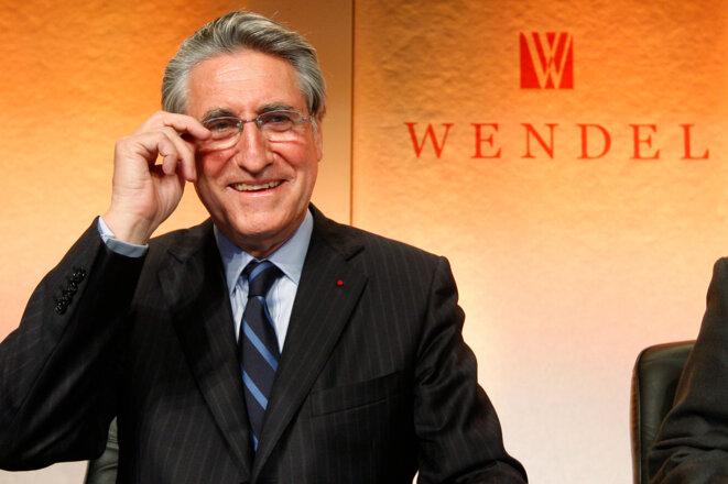 Ernest-Antoine Seillière, ancien chef de la famille Wendel et ex-président du conseil de surveillance du groupe. © Reuters