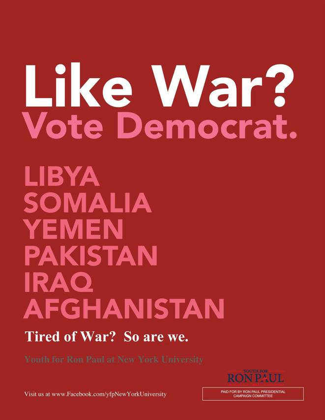 Un poster de campagne de Ron Paul.