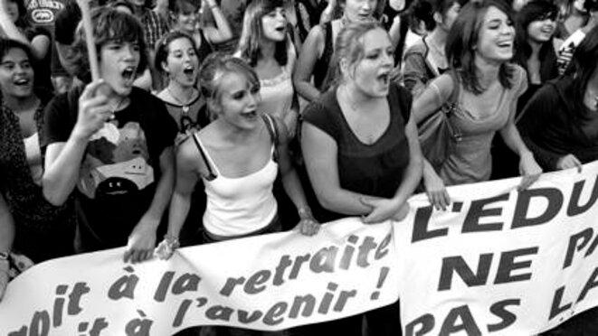 12 octobre 2010 Montpellier contre la réforme des retraites © Olivier Perriraz
