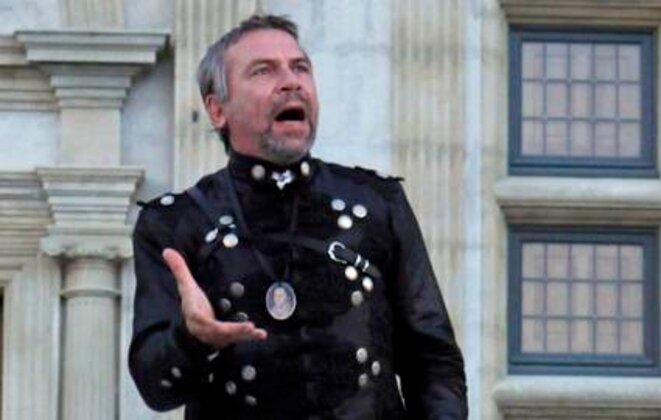 Philippe Torreton (Hamlet) en 2011 au Château de Grignan © Olivier Perriraz