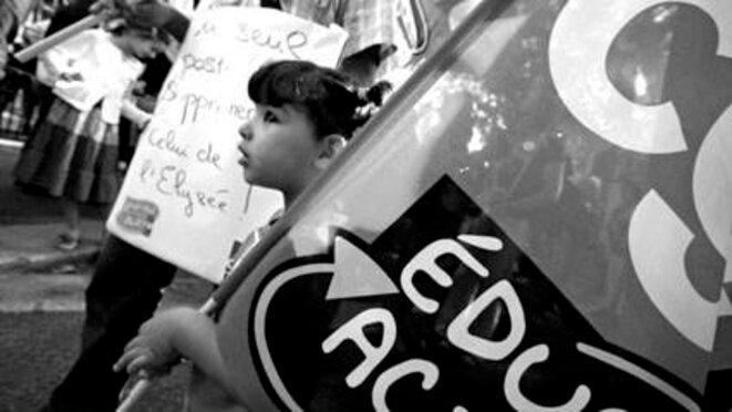 Lyon le 9 septembre 2011 manifestation des enseignants © Olivier Perriraz