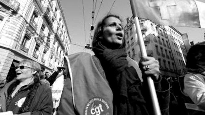 Lyon le 29 février 2012 journée Européenne contre la précarité  © Olivier Perriraz