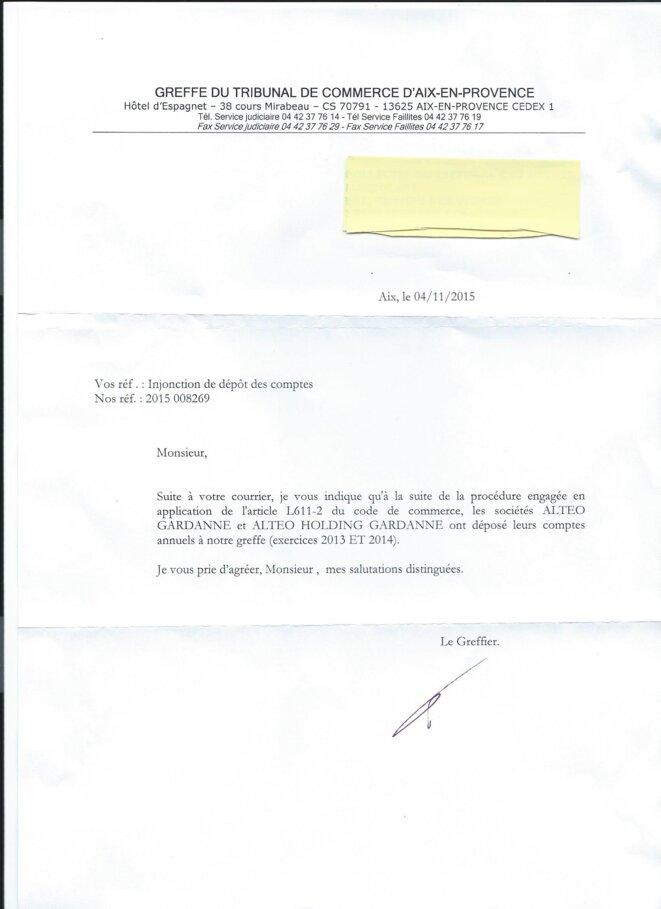 Boues rouges alteo publie ses comptes voici pourquoi - Greffe du tribunal de commerce de salon de provence ...