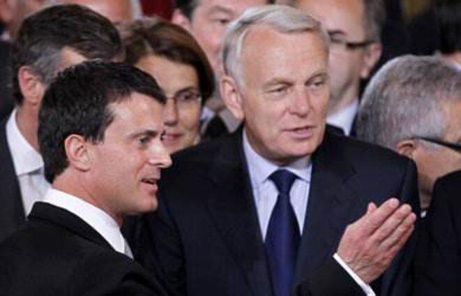 Jean-Marc Ayrault et Manuel Valls © Reuters