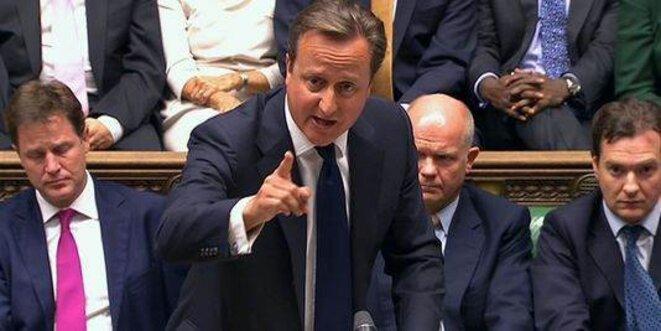 David Cameron devant la chambre des députés © Reuters.