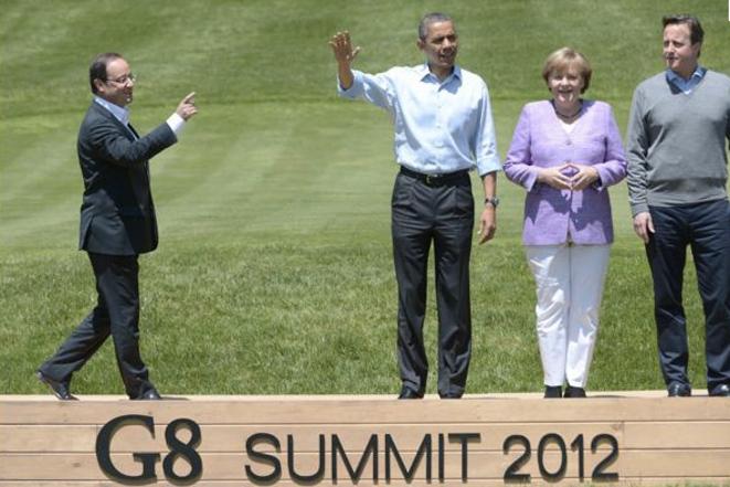 Les dirigeants du G8 à Camp David