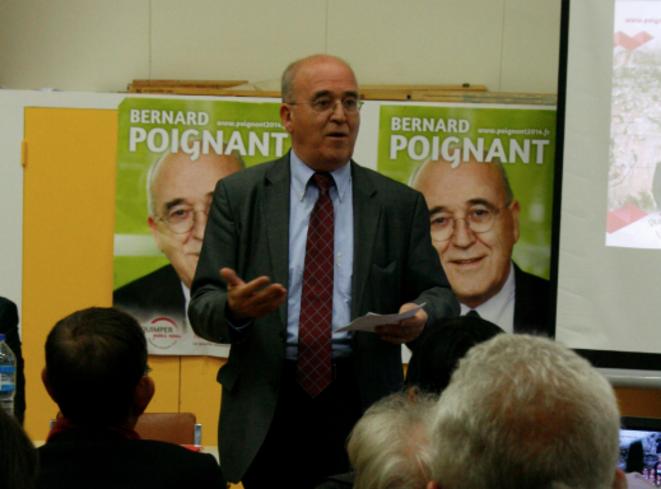 Bernard Poignant en réunion publique à Kerfeunteun © L.B.