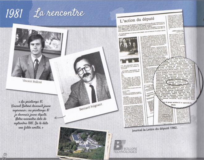 1981, la rencontre - extrait de la brochure © Mediapart