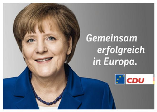 Affiche de campagne de la CDU pour les européennes