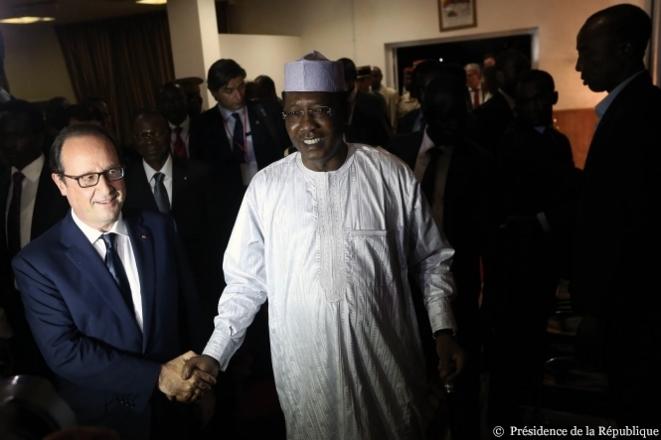 François Hollande et Idriss Déby