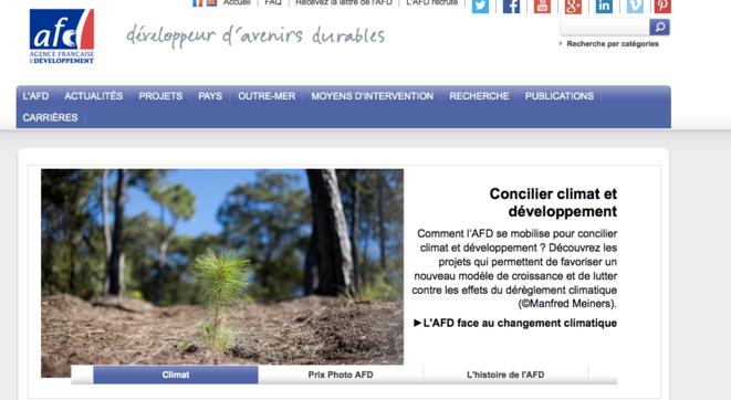 C'est l'AFD qui gère les aides climat de la France