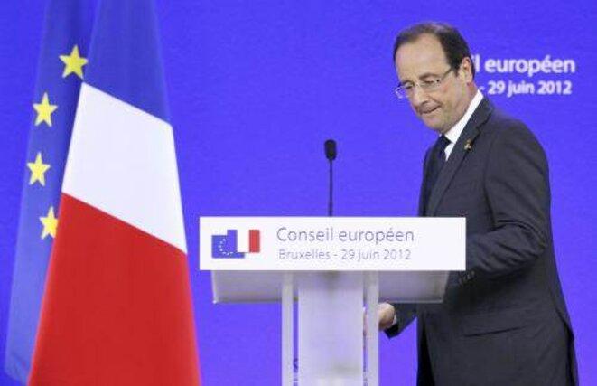 François Hollande à Bruxelles, fin juin.