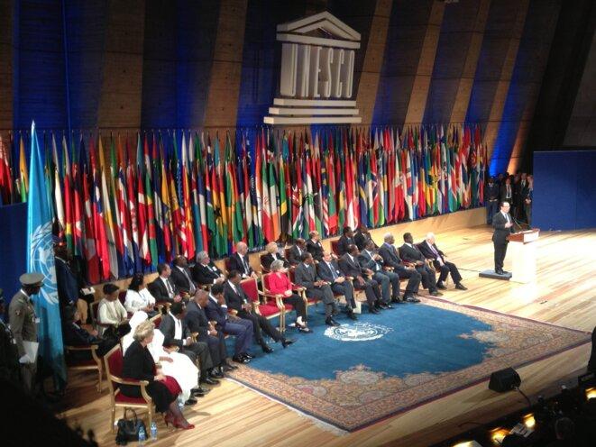 Hollande à l'Unesco mercredi 5 juin.