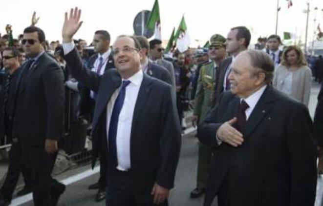 Hollande et Bouteflika mercredi à Alger. © Reuters