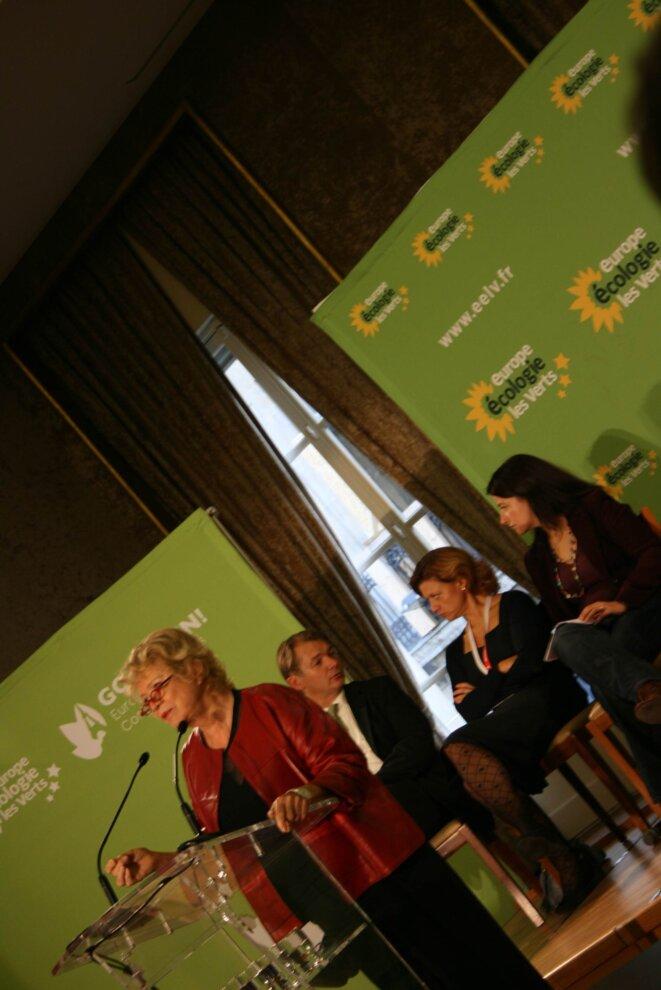 Eva Joly, lors du congrès du parti vert européen.