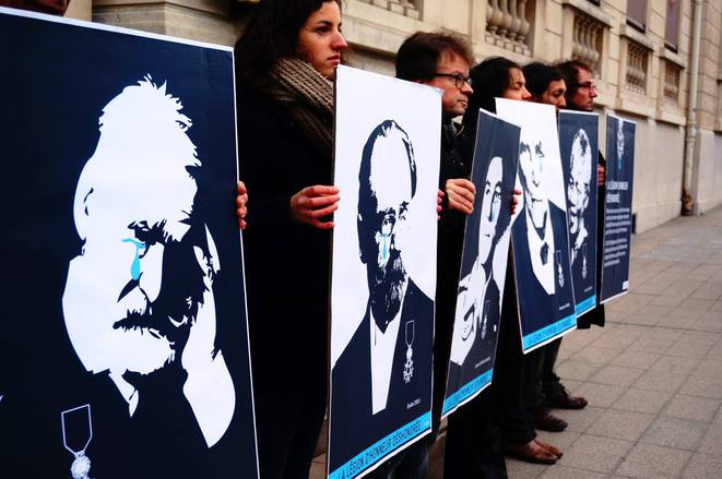 Manifestation de l'Acat contre la Légion d'honneur pour M. Hammouchi © Acat