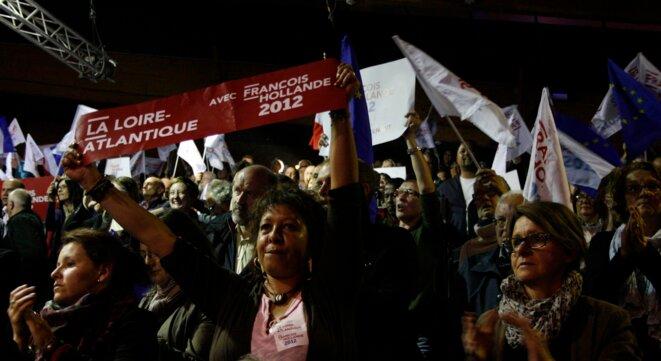 Meeting de François Hollande à Rennes. © L.B.