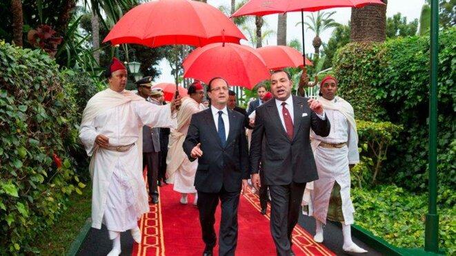 François Hollande et Mohammed VI le 4 avril 2013 © Reuters