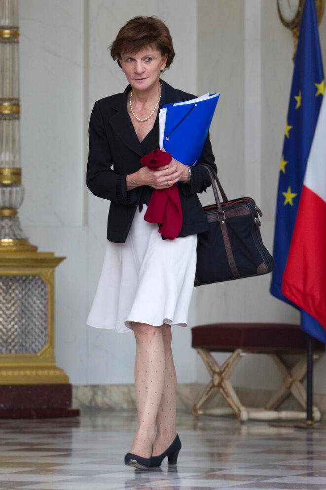 Michèle Delaunay à la sortie du conseil des ministres.