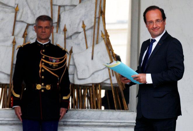 François Hollande à l'Elysée le 11 juillet.