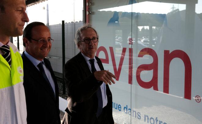 François Hollande à Evian le 7 septembre