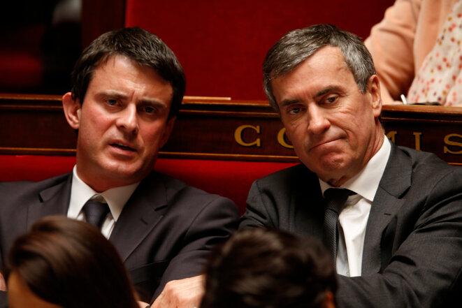 Manuel Valls et Jérôme Cahuzac à l'Assemblée  © Reuters