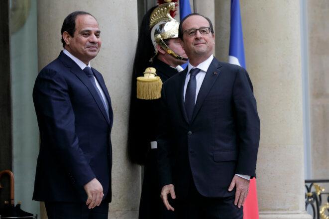 François Hollande et Abdel Fattah al-Sissi en novembre 2014 à l'Elysée © Reuters