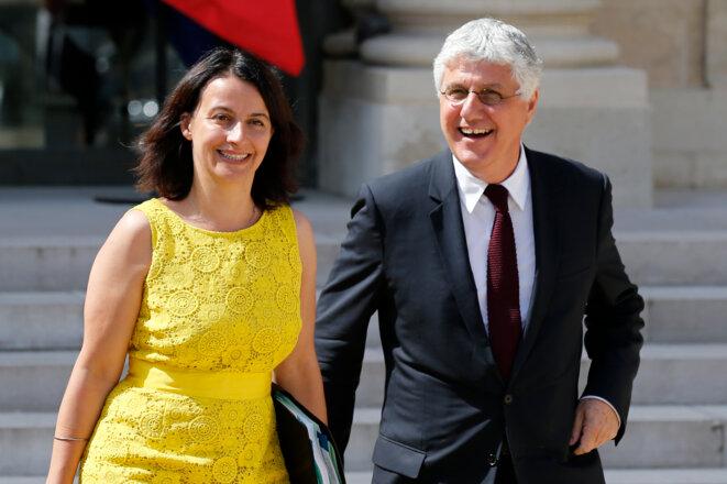 Cécile Duflot et Philippe Martin début août © Reuters.