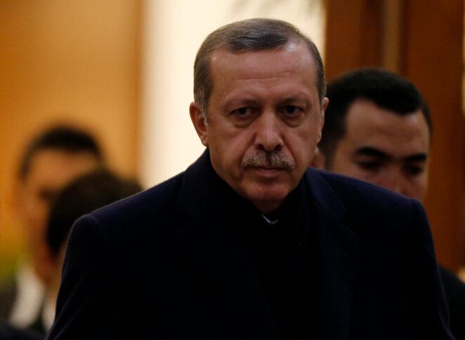 Recep Tayyip Erdogan, le 20 janvier, avant de se rendre à Bruxelles.