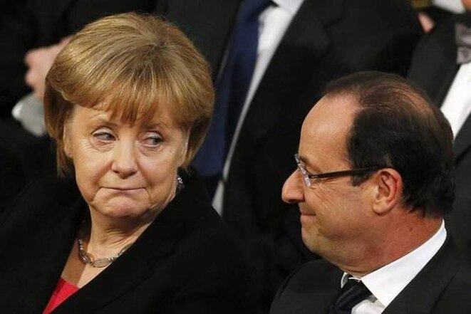 Angela Merkel et François Hollande © Reuters.