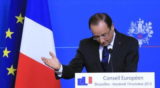 François Hollande à Bruxelles