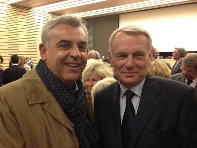 P.Terrasse avec le premier ministre J-M.Ayrault © DR