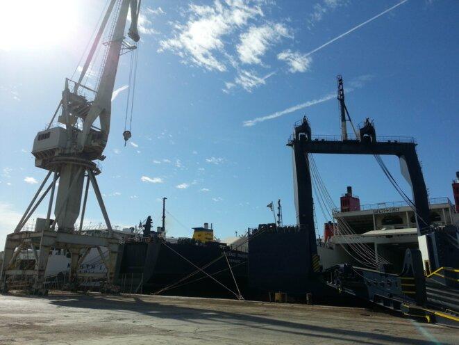 Chantier naval de Perama, dans la zone portuaire du Pirée, encore sous gestion de l'OLP.